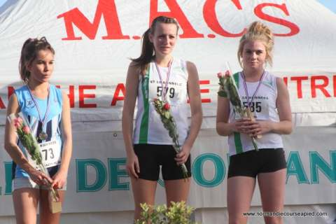 Charlotte Chalwin and Emma Jones on the podium