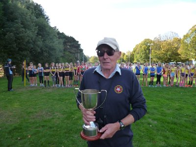 Ken Littlejohns, winner of the Popplewell Trophy 2018